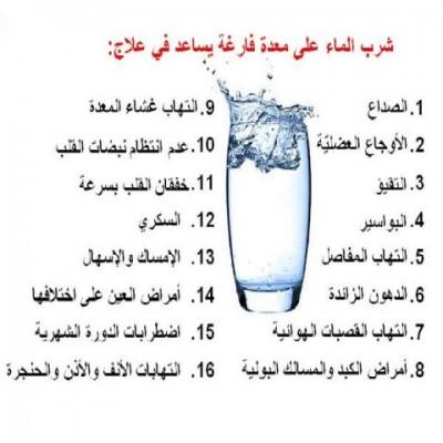 صور فوائد شرب الماء على الريق , اهمية تناول كوب ماء علي ريق النوم