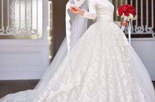 صوره فساتين زفاف محجبات , احدث فساتين الزفاف للمحجبات
