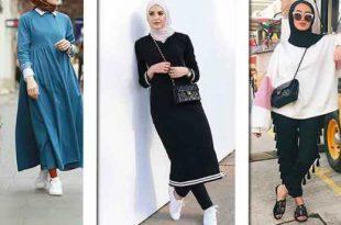 صوره ملابس محجبات كاجوال , اجمل الملابس الكاجوال الخاص بالمحجبات