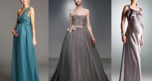 صوره فساتين سهرة للحوامل , اجمل الفساتين للحوامل