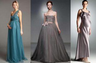 صورة فساتين سهرة للحوامل , اجمل الفساتين للحوامل