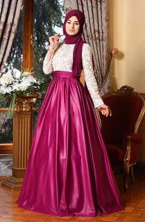 صورة فساتين محجبات سواريه , اجمل لباس سهرات للمحجبات