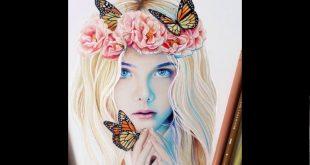 صورة رسومات بنات جميلة , صور مرسومة لبنات جميله