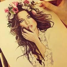 صورة رسومات بنات جميلة , صور مرسومة لبنات جميله 4089 6