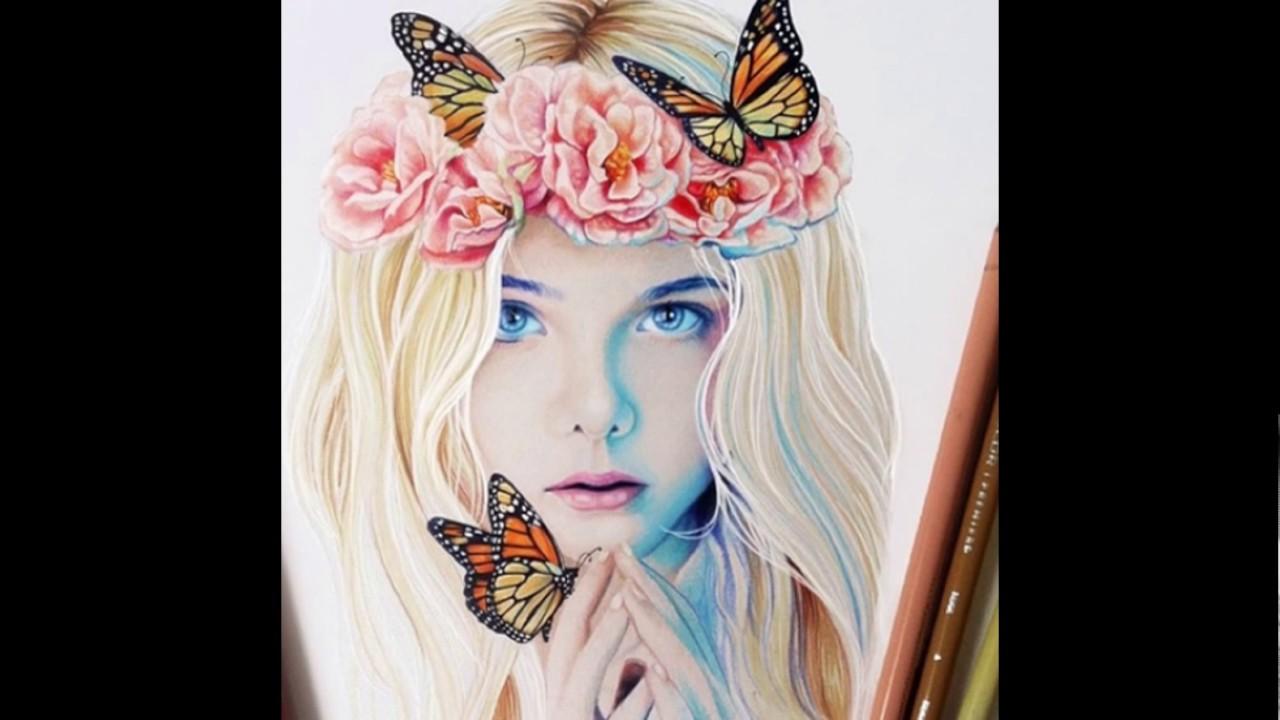 صورة رسومات بنات جميلة , صور مرسومة لبنات جميله 4089