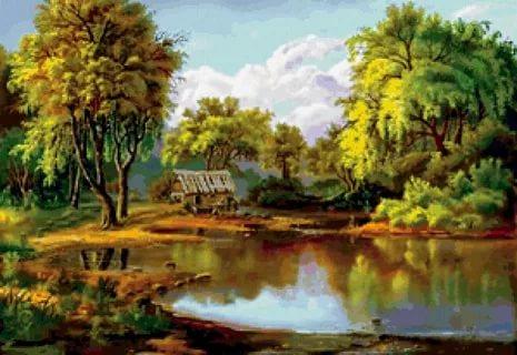 بالصور رسم منظر طبيعي , رسومات طبيعية 529 1
