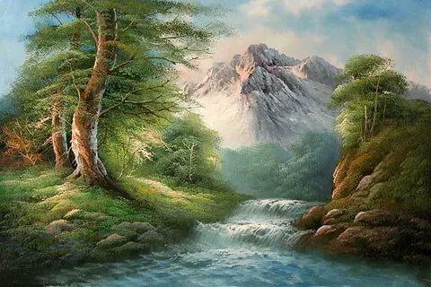 بالصور رسم منظر طبيعي , رسومات طبيعية 529 2