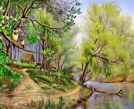 بالصور رسم منظر طبيعي , رسومات طبيعية 529 4