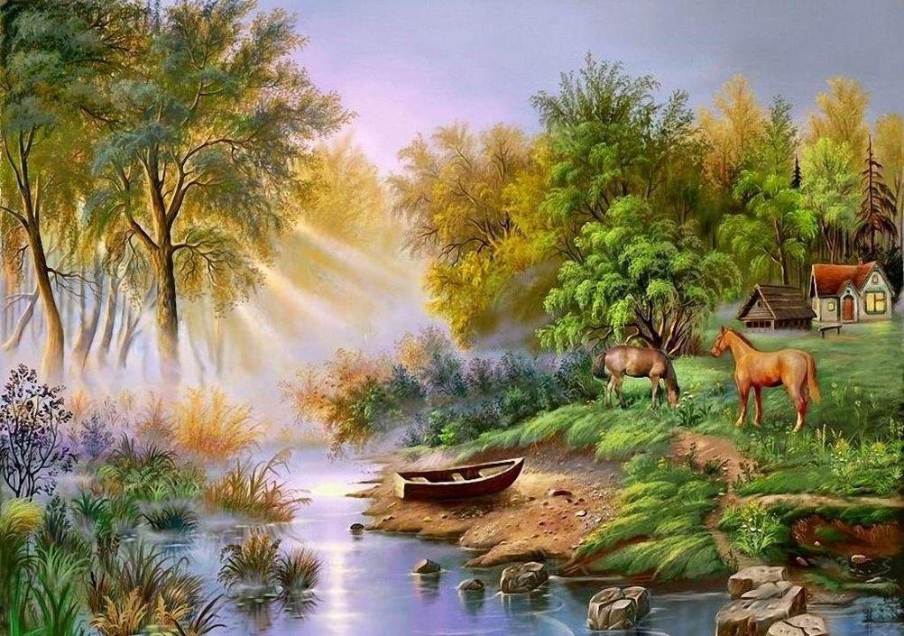 بالصور رسم منظر طبيعي , رسومات طبيعية 529 5