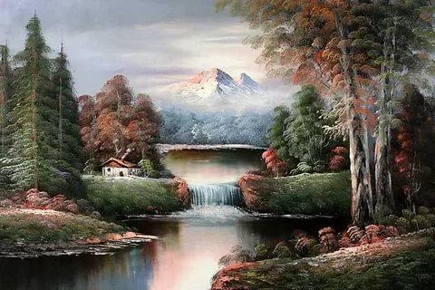بالصور رسم منظر طبيعي , رسومات طبيعية 529 7