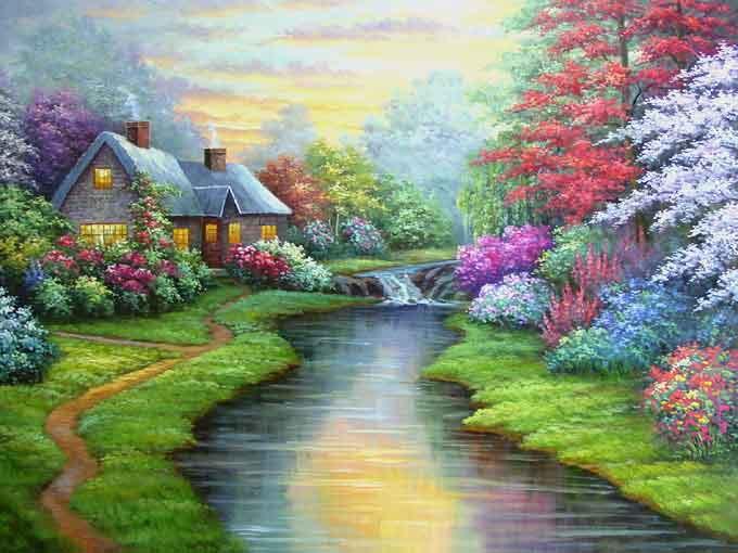 بالصور رسم منظر طبيعي , رسومات طبيعية 529 8