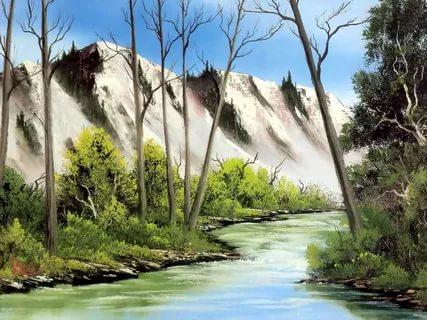 بالصور رسم منظر طبيعي , رسومات طبيعية 529 9