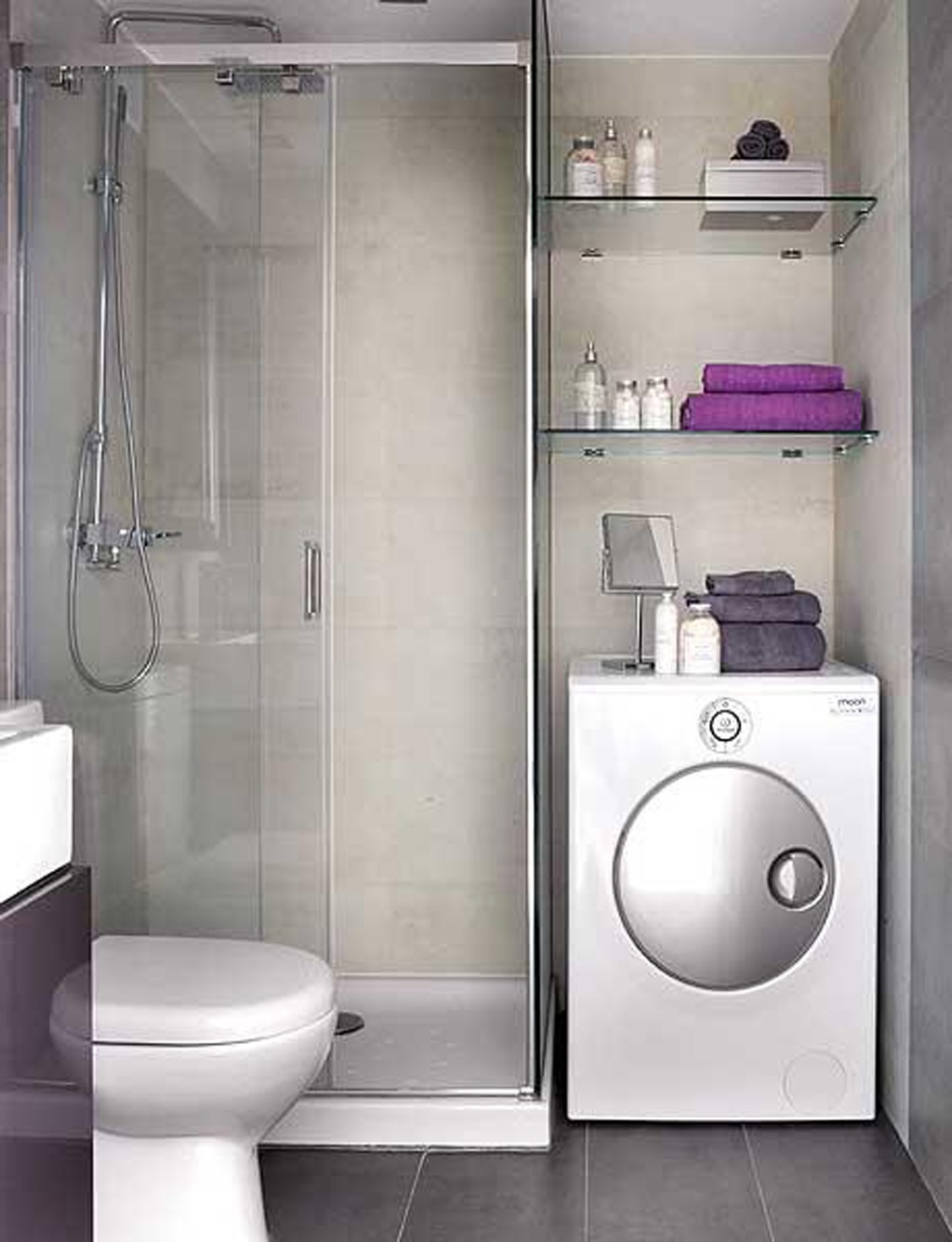 صورة ديكور حمامات صغيرة , استايلات حمامات
