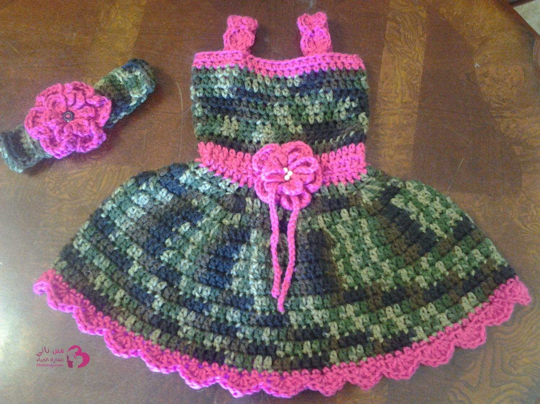 بالصور فساتين اطفال كروشيه , بالصور اجمل الفساتين الكروشيه 3816 2