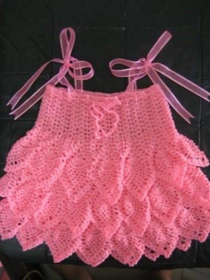 بالصور فساتين اطفال كروشيه , بالصور اجمل الفساتين الكروشيه 3816 3
