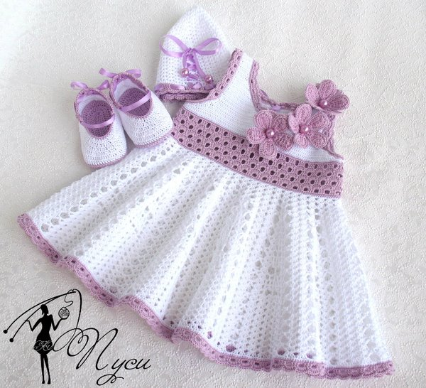 صورة فساتين اطفال كروشيه , بالصور اجمل الفساتين الكروشيه 3816 4