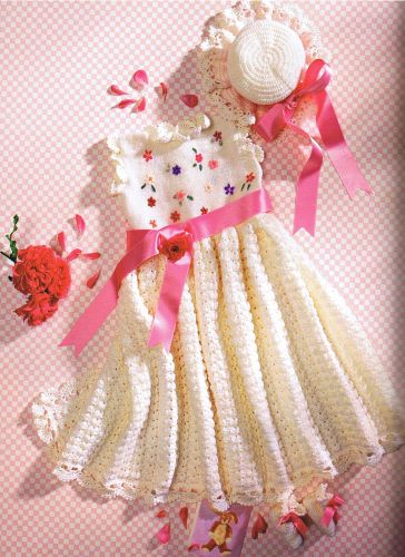 بالصور فساتين اطفال كروشيه , بالصور اجمل الفساتين الكروشيه 3816 7