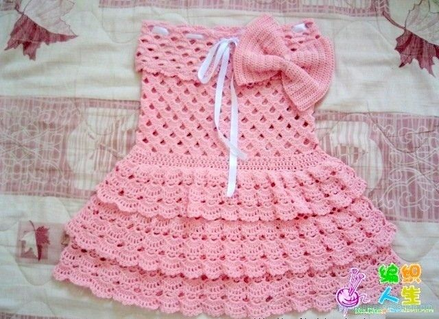 بالصور فساتين اطفال كروشيه , بالصور اجمل الفساتين الكروشيه 3816 8