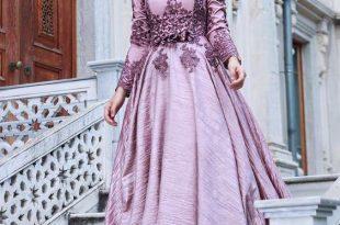 صورة فساتين سهرة للمحجبات , صور اجمل الفساتين المحجبات