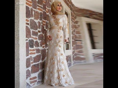 بالصور فساتين سهرة للمحجبات , صور اجمل الفساتين المحجبات 3861 7