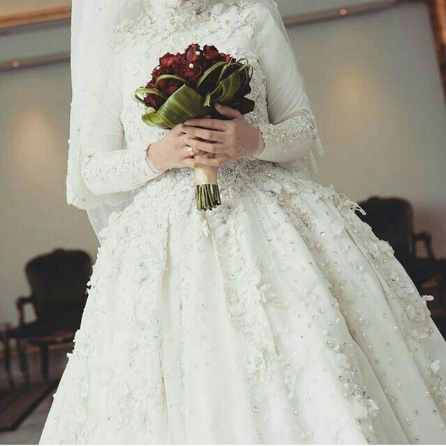 صور فساتين زفاف للمحجبات , اجمل الفساتين الزفاف للمحجبات