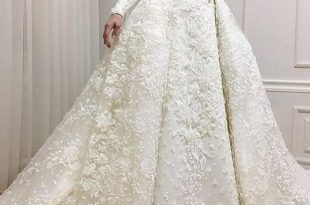 صورة فساتين زفاف للمحجبات , اجمل الفساتين الزفاف للمحجبات