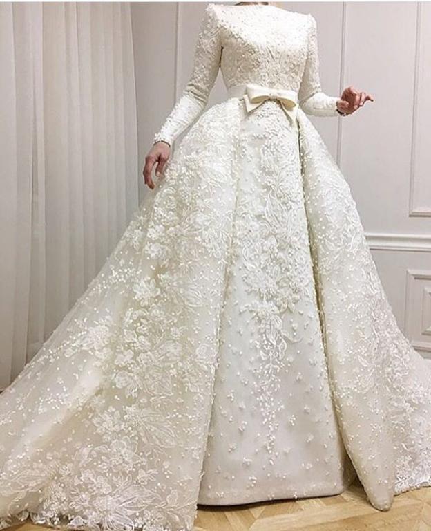 صوره فساتين زفاف للمحجبات , اجمل الفساتين الزفاف للمحجبات