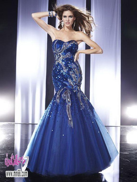 صور فساتين سهرة فخمة , صور اجمل الفساتين فخمة