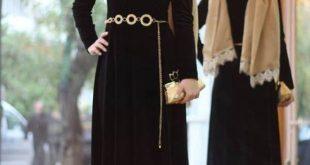 صوره اجمل الفساتين للمحجبات , افضل فساتين العام للمحجبات