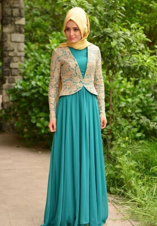 بالصور اجمل الفساتين للمحجبات , افضل فساتين العام للمحجبات 443 3