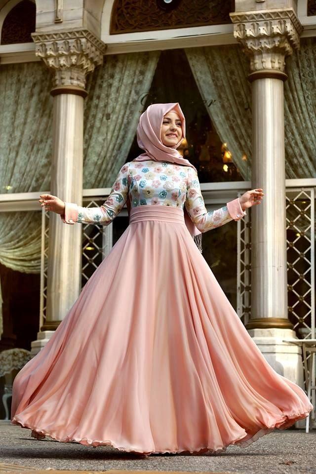 بالصور اجمل الفساتين للمحجبات , افضل فساتين العام للمحجبات 443 6