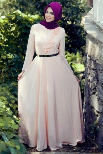 بالصور اجمل الفساتين للمحجبات , افضل فساتين العام للمحجبات 443 8