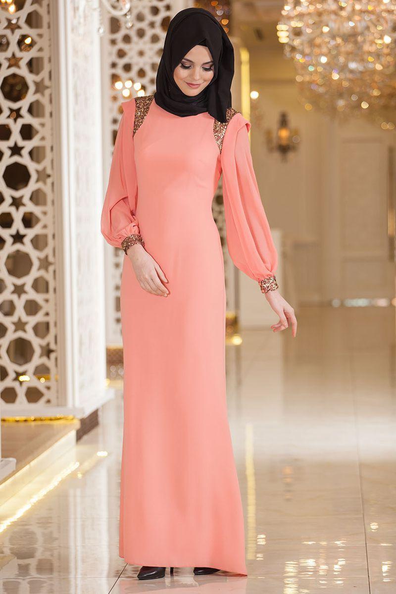 بالصور اجمل الفساتين للمحجبات , افضل فساتين العام للمحجبات 443 9