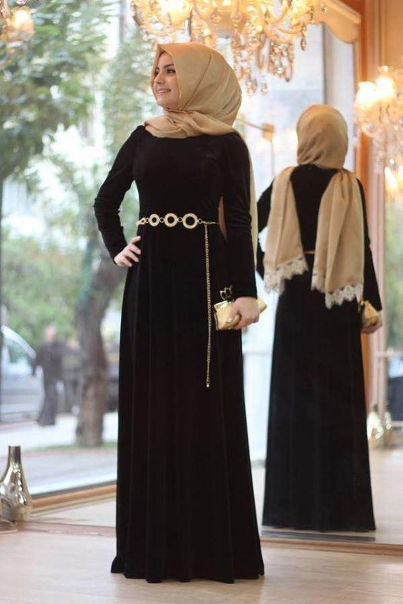 صور اجمل الفساتين للمحجبات , افضل فساتين العام للمحجبات