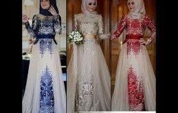 صور فساتين محجبات تركية سوارية , احدث موديلات الفساتين التركية والسوريه بالصور