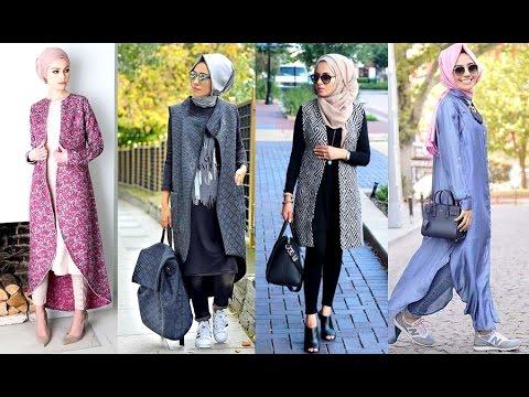 صورة تنسيق ملابس المحجبات , اجمل الازياء للفتاة المحجبة
