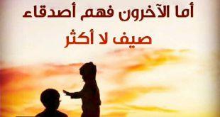صورة قصيدة مدح الخوي , قيمة الصديق
