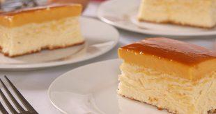 صورة طريقة عمل كيكة الكريم كراميل بالصورعمل الكيكة بالكريم كرمل